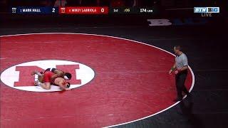174 LBS: #1 Mark Hall (Penn State) vs. #6 Mikey Labriola (Nebraska)   2020 B1G Wrestling