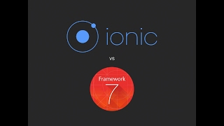 Ionic vs Framework7 - Which is better?