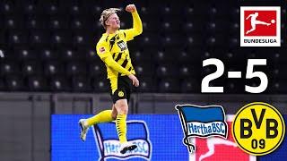 Haaland's four goals & Moukoko record debut   Hertha - Dortmund 2-5   Highlights   MD 8 – Bundesliga