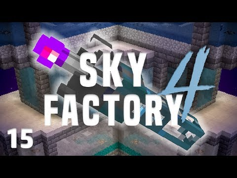 SkyFactory 4 Ep. 15 Integrated Dynamics Piping + AE2 Wireless Terminal
