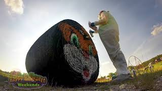 Time Lapse: Hay-Bale Painting For Halloween