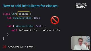How to add initializers for classes – Swift for Complete Beginners