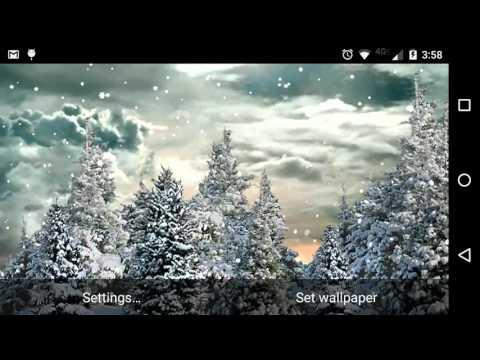 Falling Snow Live Wallpaper Tutorial Snowfall Free Live Wallpaper Android App On Appbrain