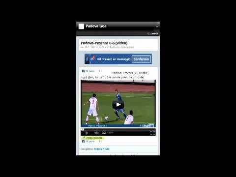 Video of Padova Goal