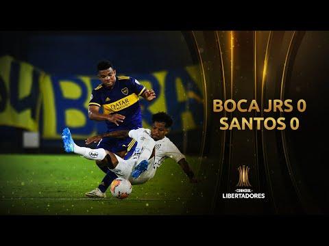 Boca no pudo doblegar al Santos y tiene que al menos empatar haciendo goles en Brasil para ser finalista
