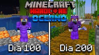 SOBREVIVÍ 200 Días en un OCEANO en Minecraft HARDCORE... Esto es lo que pasó