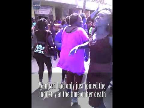 Nakuru Sex Workers Demonstrate over killing of colleague