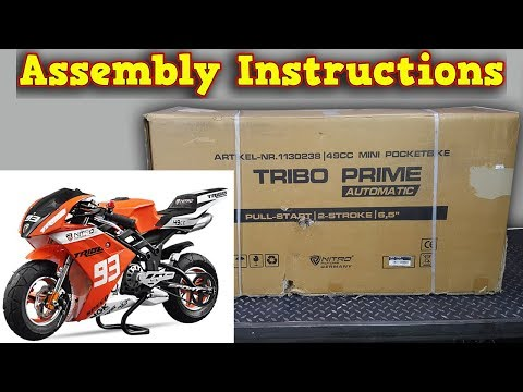 Tribo 49cc Pocket Bike - Full Assembly Instructions