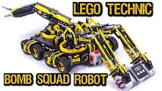 LEGO Technic Bomb Disposal Robot -- 19 motors!