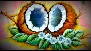 Como pintar cocos em tecido