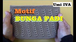 Gambar cover Tutorial Merajut Motif Bunga Padi  Crochet
