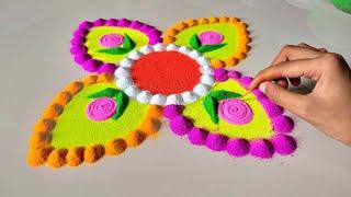 rangoli design for ganesh chaturthi 2020 || गणेश चतुर्थी के लिए सुंदर रंगोली बनाये