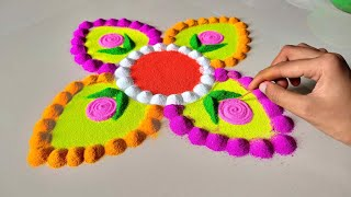 rangoli design for ganesh chaturthi 2020 || गणेश चतुर्थी के लिए सुंदर रंगोली बनाये - Download this Video in MP3, M4A, WEBM, MP4, 3GP