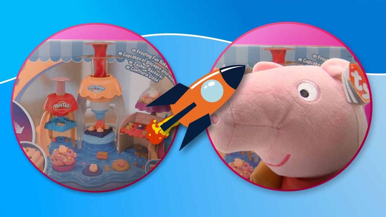 Peppa Pig en la confitería glasé de Play Doh | Pasteles de plastilina