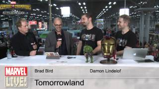 Damon Lindelof and Brad Bird of Tomorrowland Bring the Good Vibes and Talk the Movie at NYCC 2014