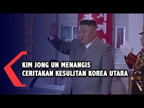 kim jong un menangis ceritakan kesulitan korea utara di hut partai buruh