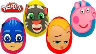 Aprende Los Colores Con 4 Huevos Sorpresas De Un Jefe En Pañales PJ Masks Peppa Pig Y Talking Tom