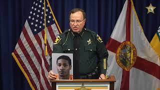 Sheriff Grady Judd is speaking withthe media in regards to a 2 year oldchild being seriously wounded