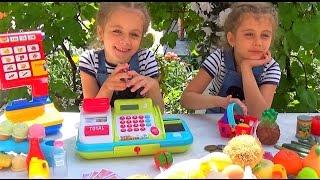 ИГРАЕМ В МАГАЗИН. Супермаркет. Касса RikRok. Игрушки для детей. Детский канал Расти вместе с нами.