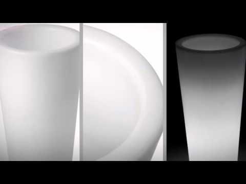 LED Pflanzkübel Kegel groß von myfab