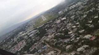 preview picture of video 'Turbo Commander landing in MTPP (Port au Prince) Haiti'
