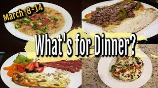WHAT'S FOR DINNER | MARCH 8-14 | EASY DINNER IDEAS | MANDY IN THE MAKING