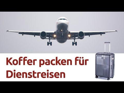 Koffer packen für eine Dienstreise ... wir zeigen wie!