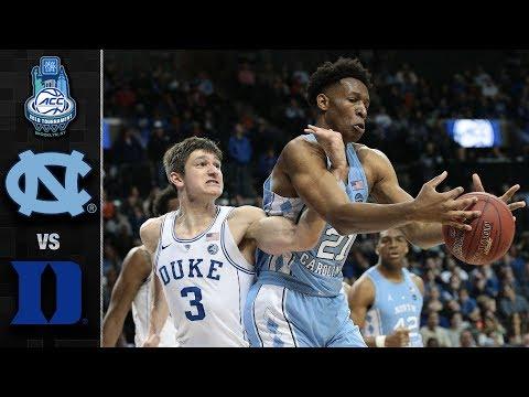 North Carolina vs. Duke ACC Basketball Tournament Highlights (2018)