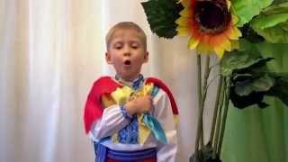 Костік 4,5 роки співає Гімн УКРАЇНИ  в дитячому садочку