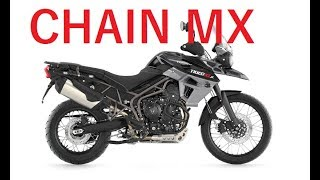 Triumph Tiger 800 XCx - Chain Slack Adjustment And Cleaning