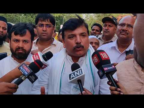 Rajya Sabha Member Sanjay Singh byte on IAS Association Statement & Rahul Gandhi's Remark on Dharna