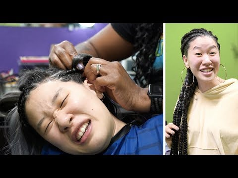 My Korean Fiancée Gets Cornrows For The First Time | SLICE n RICE 🍕🍚