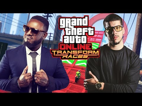 GTA 5  TRANSFORM RACES DLC w/ T-PAIN!! (GTA 5 DLC Gameplay)