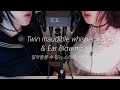 ASMR Twin Inaudible whisper & Ear Blowing