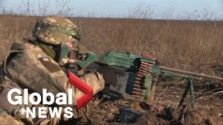 Ukrainian military holds artillery drills near Azov Sea as tensions with Russia mount