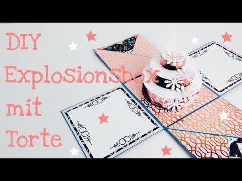 DIY Explosionsbox zur Hochzeit inkl. Torte [tutorial | deutsch]
