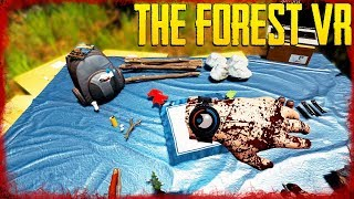 THE WORST START! | VR in The Forest Ep 01
