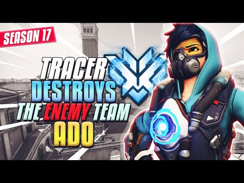 """Pro Korean Player """"ADO"""" destroys the enemy team with TRACER in Season 17"""