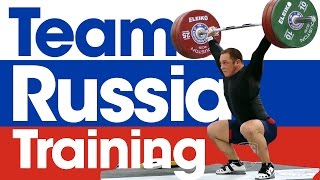 Team Russia Training 2015 World Weightlifting Championships