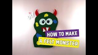 DIY: How To Make A Felt Monster