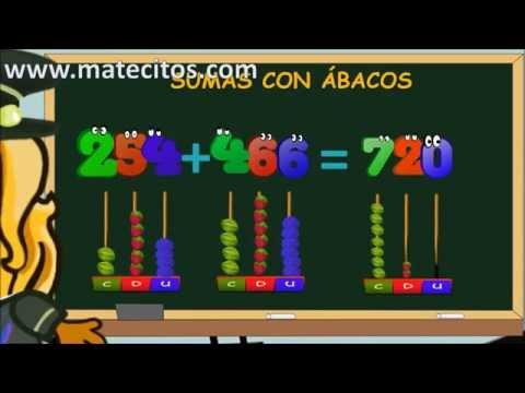 www.matecitos.com: 2º Primaria: Sumas con Ábacos