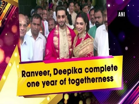 Ranveer, Deepika complete one year of togetherness