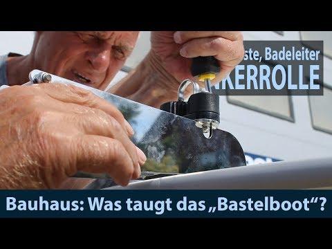 Bauhaus Bastelboot #3 Montage: Backskisten, Badeleiter & Ankerrolle