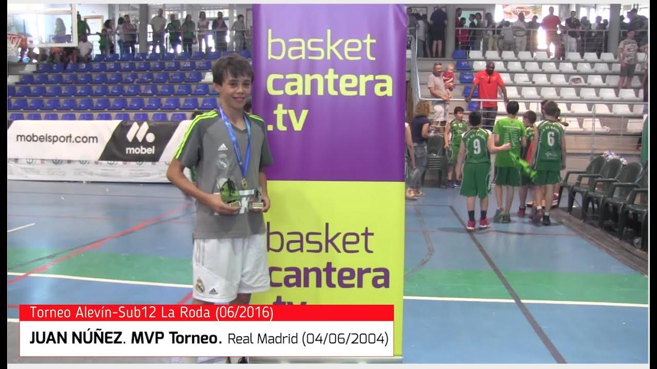 JUAN NÚÑEZ (Real Madrid 4/6/2004). MVP del Torneo Sub12 La Roda-2016 (BasketCantera.TV)