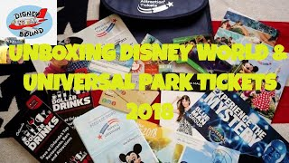 Unboxing  Disney World & Universal Park Tickets 2018