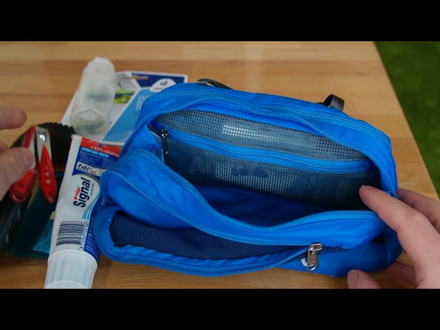 Видео Косметичка Deuter Wash Bag Tour III papaya-navy