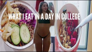 🌱What I Eat In A Day: College Freshman (Healthy Dorm Food)🌱