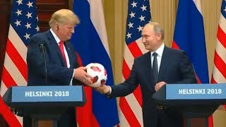 President Trump has a joint press conference with the President of the Russian Federation Putin