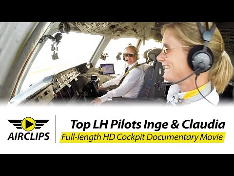 MUST SEE! TWO COOL LADIES piloting HEAVY MD-11F ULTIMATE COCKPIT MOVIE [AirClips full flight series]
