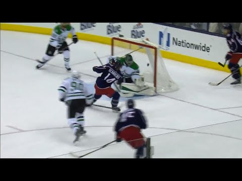 Blue Jackets take advantage of Bishop playing the puck to score easy goal